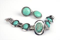 Jewelery de la turquesa Imágenes de archivo libres de regalías