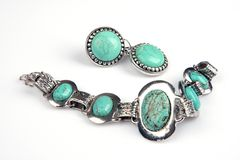 Jewelery de turquesa Imagens de Stock Royalty Free