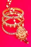 Jewelery dell'oro Fotografia Stock