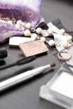 Jewelery e Ñosmetics Fotografia Stock
