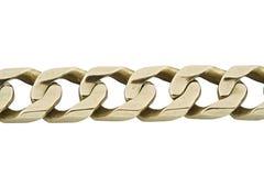 Jewelery gold bracelet. Isolated Royalty Free Stock Image