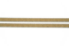 Jewelery gold chain. Isolated Royalty Free Stock Photos