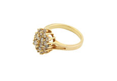 Jewelery gold ring. Isolated Royalty Free Stock Images