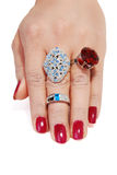 Jewelery in hand Royalty Free Stock Photography