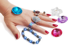 Jewelery In Hand Royalty Free Stock Photo