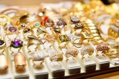 Jewelery market in Istanbul Royalty Free Stock Photos
