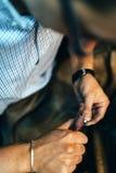 Jewelery polishing ring Stock Image