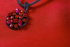 Jewelery ruby pendant Royalty Free Stock Photography