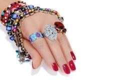 Jewelery ter beschikking royalty-vrije stock foto