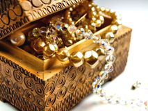 jewelerypärlaskatt Arkivfoton