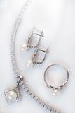 jeweleryset arkivbilder