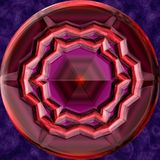 Jewelled metal orb generated texture Royalty Free Stock Photos