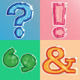 Jewelled punctuation marks Royalty Free Stock Photos