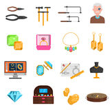 Jeweller Icons Set Royalty Free Stock Images