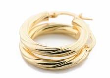jewellery золота серег Стоковая Фотография