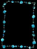Jewellery. Turquoise jewellery on black background Royalty Free Stock Photography