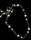 Jewellery. Pearl necklace on a black background Stock Photo