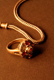 Jewellery_4. Old gold ornaments in the beautiful light and perspective Stock Photography