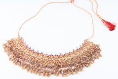 Jewellery. Indian nice golden jewellery in stock Royalty Free Stock Photography