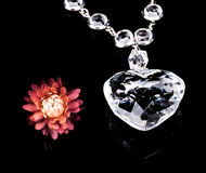 Jewellery And Flowers Royalty Free Stock Photography