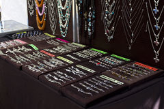Jewellery on black backgrounds Royalty Free Stock Image