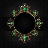 Jewellery black frame Royalty Free Stock Photography