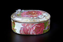 Jewellery box on black Royalty Free Stock Image