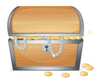 A jewellery and a box Royalty Free Stock Photo