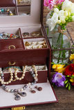 Jewellery in box Stock Photo