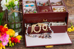 Jewellery in box Royalty Free Stock Image
