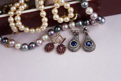 Jewellery in box Stock Photography