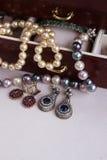 Jewellery in box Stock Photo