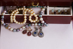 Jewellery in box Royalty Free Stock Photography