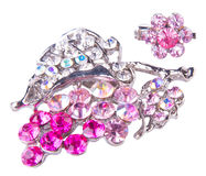 Jewellery. brooches on a background Royalty Free Stock Photos