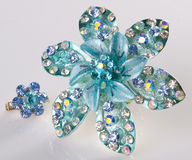 Jewellery. brooches on a background Royalty Free Stock Photo