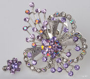 Jewellery. brooches on a background Stock Photos
