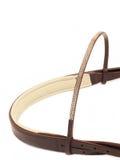 Jewellery browband odizolowywający na bielu uzda zdjęcie royalty free