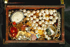 Jewellery in chest Royalty Free Stock Image