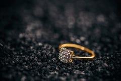 Jewellery diamond ring Stock Photo