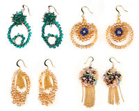 Jewellery earrings Stock Images