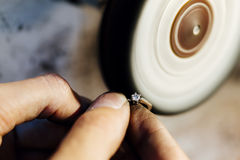Jewellery froterowania pierścionek Obraz Royalty Free