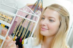 Jewellery has caught attention Royalty Free Stock Photos