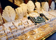 Jewellery market display royalty free stock photography