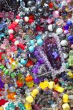 Jewellery mixed colorful jewels plastic jewelry stock photo