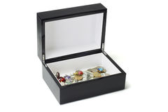 Jewellery and money in black box Royalty Free Stock Photos