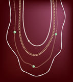 Jewellery necklace Royalty Free Stock Images
