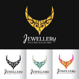 Jewellery necklace abstract logo vector art design Stock Images