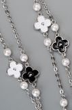 Jewellery necklace with flowers Stock Image