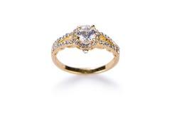 Jewellery pierścionek odizolowywający na bielu Zdjęcie Stock