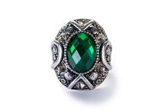 Jewellery pierścionek odizolowywający na bielu Obraz Royalty Free